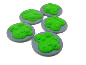 Chemical Spill Tokens (Toxic Liquid), Set of 5 in Full Color Sandstone