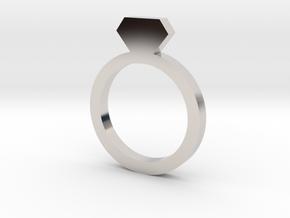 Placeholder Ring in Platinum