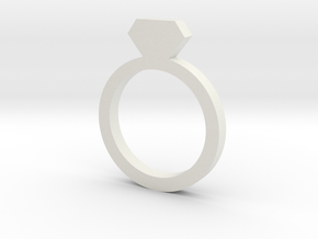 Placeholder Ring in White Natural Versatile Plastic