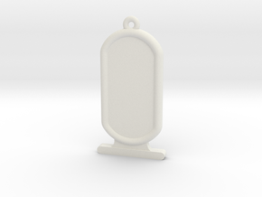 Customizable Ancient Egyptian Cartrouche in White Natural Versatile Plastic