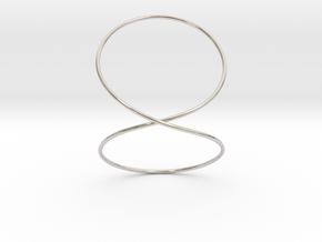 Infinity Bracelet in Rhodium Plated Brass