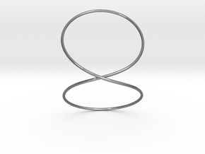 Infinity Bracelet in Fine Detail Polished Silver