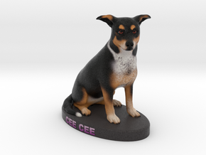 Custom Dog Figurine - Ceecee in Full Color Sandstone