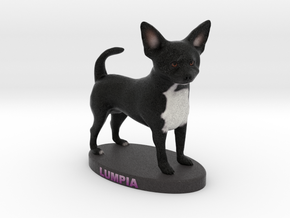 Custom Dog Figurine - Lumpia in Full Color Sandstone