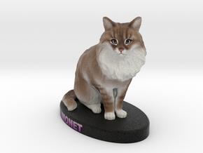 Custom Cat Figurine - Monet in Full Color Sandstone