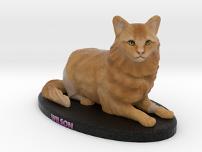 Custom Cat Figurine - Wilson in Full Color Sandstone