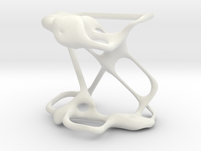 Basidium sculpture in White Natural Versatile Plastic