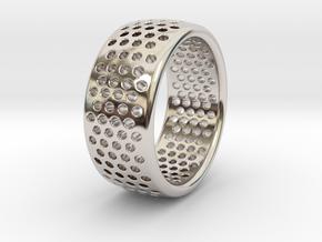 Light Ring in Rhodium Plated Brass