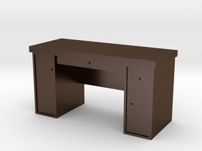 1:35 Scale Desk  in Polished Bronze Steel