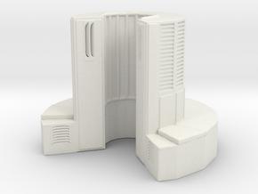 1/35 Scale Supercomputer in White Natural Versatile Plastic