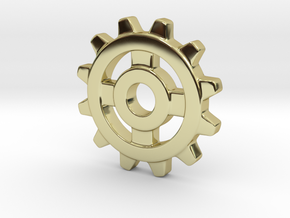 One Inch Eight Normal Spoke Gear in 18k Gold Plated Brass