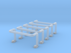 Ladder Rung 5pcs in Smooth Fine Detail Plastic