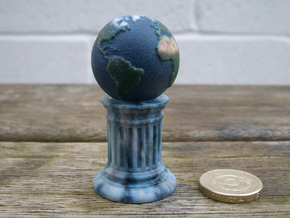 Globe-On-Pillar. A different board game counter. in Full Color Sandstone