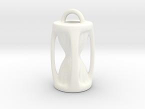 Sanduhr / Hourglass Pendant in White Processed Versatile Plastic