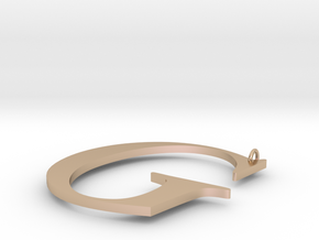 G in 14k Rose Gold Plated Brass