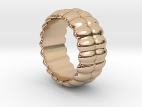 Mirror Ring 32 - Italian Size 32 in 14k Rose Gold Plated Brass