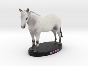 Custom Horse Figurine - Karel in Full Color Sandstone