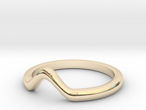 V knuckle ring in 14K Yellow Gold