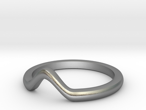V knuckle ring in Natural Silver