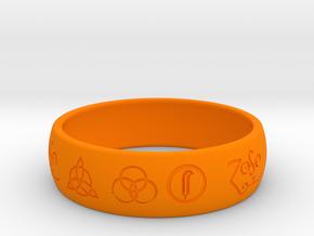 Size 8 FOUR SYMBOLS A in Orange Processed Versatile Plastic