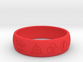 Size 13 FOUR SYMBOLS A  in Red Processed Versatile Plastic