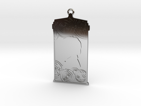 TARDIS Pendant with Three in Fine Detail Polished Silver