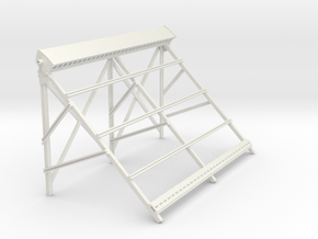 Solar frame 90 degrees without tubes  in White Natural Versatile Plastic