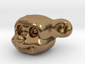 Cute Puppy in Natural Brass