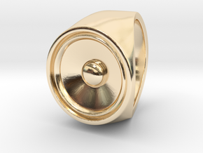 Screaming Sister - Signet Ring  in 14k Gold Plated Brass: 9 / 59