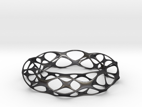 Voronoi Bracelet in Polished and Bronzed Black Steel