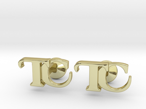 Monogram Cufflinks TC in 18k Gold Plated Brass