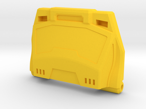 Streaker Chest Plate in Yellow Strong & Flexible Polished