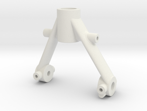 Tamiya SRB vintage style replacement rear arm in White Strong & Flexible