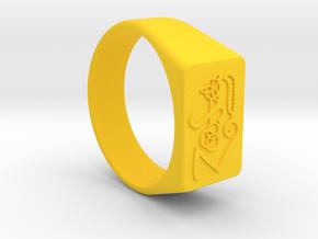 Size 9 Symbols Classic Rock 70's  in Yellow Processed Versatile Plastic