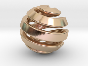 Ball-11-1 in 14k Rose Gold Plated Brass