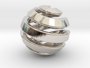 Ball-11-1 in Rhodium Plated Brass