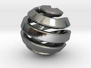 Ball-11-1 in Fine Detail Polished Silver