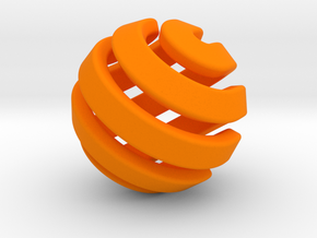 Ball-11-2 in Orange Processed Versatile Plastic