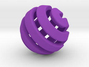 Ball-11-3 in Purple Processed Versatile Plastic