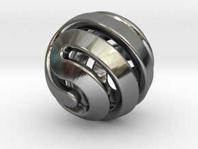 Ball-11-4 in Fine Detail Polished Silver