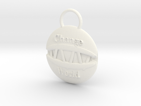 Change the world in White Processed Versatile Plastic