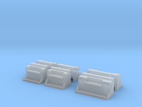 1/50th Kenworth Type Vintage battery step boxes in Smooth Fine Detail Plastic