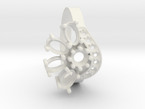 SolarCrest Ring. Part of garniture. in White Natural Versatile Plastic