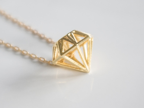 Diamond pendant | necklace | bracelet in 18k Gold Plated