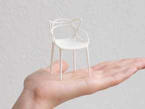 Masters Chair Miniature 1:12 in White Natural Versatile Plastic