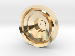 Yo-yo in 14k Gold Plated Brass