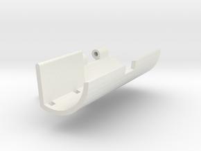 Single servo robot gripper outer side v5 in White Natural Versatile Plastic
