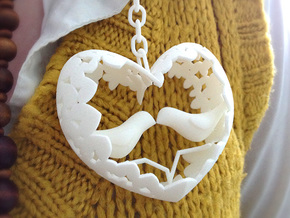 Lovebirds in White Natural Versatile Plastic