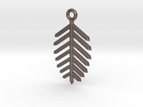 Spruce Earring in Polished Bronzed Silver Steel