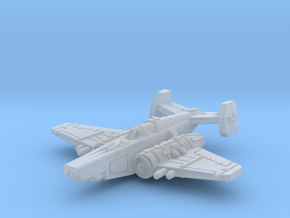 Fighter in Smooth Fine Detail Plastic